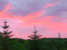 A Skye sunset from Leobost House